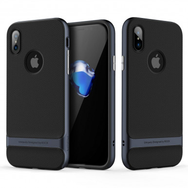 Задняя накладка Rock Royce Case для iPhone X, темно-синий