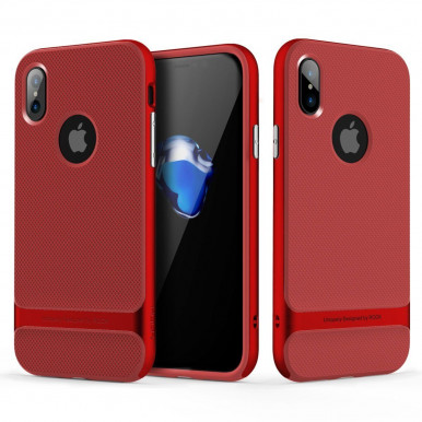 Задняя накладка Rock Royce Case для iPhone X, красный