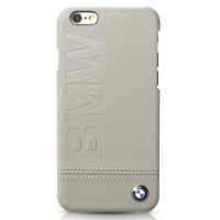 Накладка BMW для iPhone 6/6S Logo Imprint Hard Leather Taupe (BMHCP6LLST)