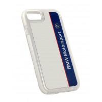 Задняя накладка BMW для iPhone 7 Motorsport Shockproof Hard PC Navy/White (BMHCP7SPVNA)