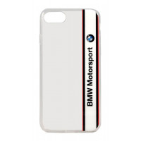 Чехол-накладка для iPhone 7 BMW Motorsport Transparent Hard TPU, White (BMHCP7TVWH)