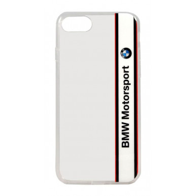 Чехол-накладка для iPhone 5S / SE BMW Motorsport Transparent Hard TPU, White (BMHCPSETVWH)