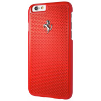 Чехол-накладка Ferrari для iPhone 6/6S Aluminium plate Hard Red (FEPEHCP6RE)