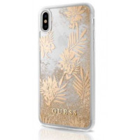 Накладка Guess для iPhone X Glitter Collection - Palm Spring (GUHCP8GLUPRG), золото