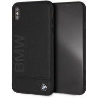 Чехол BMW для iPhone XS Max Signature Logo imprint Hard Leather (BMHCI65LLSB), черный