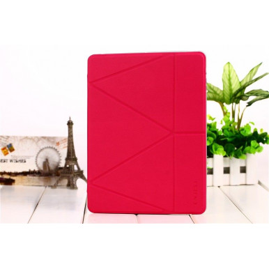 Чехол-книга Onjess Origami Stand Leather Smart Case для iPad Air 2, малиновый