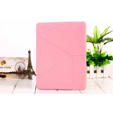 Чехол-книга Onjess Origami Stand Leather Smart Case для iPad Air 2, розовый