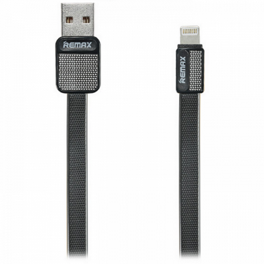 Кабель Remax USB Lightning Platinum 1m (RC-044i), черный