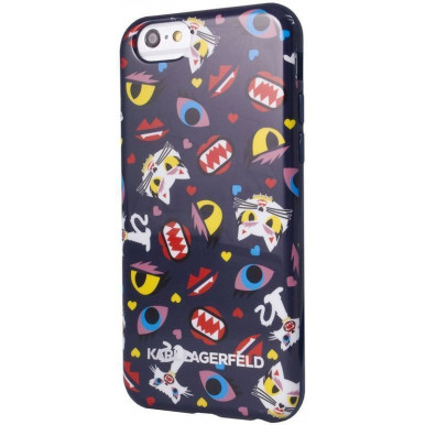 Накладка Karl Lagerfeld для iPhone 6 Plus / 6S Plus Monster Choupette Hard pt (KLHCP6LMCPBL) синий