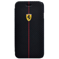 Чехол Ferrari для iPhone 6/6S Formula One Booktype (FEFOCFLBKP6BL) черный