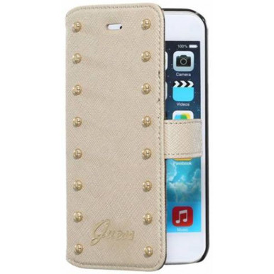Чехол Guess для iPhone 6 Plus / 6S Plus Studded Booktype (GUFLBKP6LSAC) кремовый