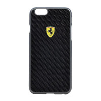 Накладка Ferrari для iPhone 6 Plus / 6S Plus Formula One Hard Real Carbon (FESCCBHCP6LBL) черный