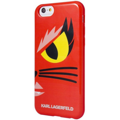 Накладка Karl Lagerfeld для iPhone 6/6S Monster Choupette Hard (KLHCP6MCR) красный